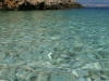 Weiße Kiesel-Bucht bei Orlec