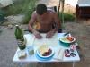 Zubereitung des Abendessens - Wraps