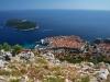 Blick auf Dubrovniks Altstadt vom Hausberg Srdj