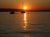 Boote im Sonnenuntergang, Insel Cres