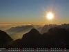 September - Sonnenaufgang am Jubiläumsgrat, Zugspitze