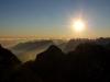 Sonnenaufgang am Jubiläumsgrat