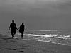 Spaziergänger am Nordseestrand