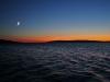 Mond im Sonnenuntergang