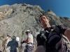 am Klettersteig Einstieg