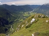 Ausblick vom ins Soca-Tal vom Svinjak