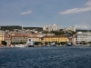 Blick auf Rijeka vom Fähranleger