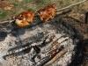 Zum Schluss noch mit BBQ-Sauce einpinseln, fertig!!!