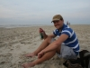 Das erste Bierchen am Strand