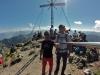 Am Gipfelkreuz der Roten Flüh